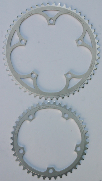 NOS Campagnolo C Record pair chainrings 53/42