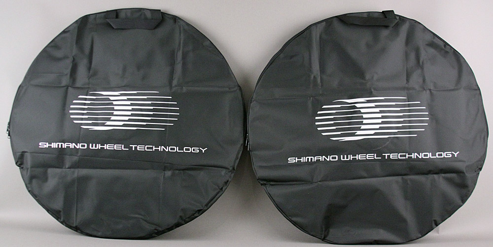 Pair of Shimano Wheel Technology Bags for Road Bike Wheels Black