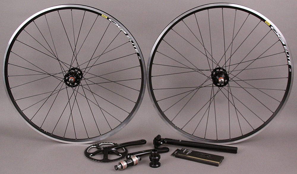 Mavic CXP Elite Black Track Wheels & Origin8 Group SingleSpeed