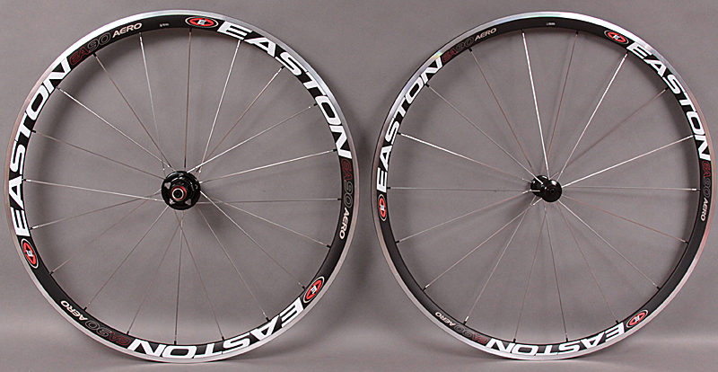 2011 Easton EA90 AERO Road Bike Wheelset 1545 grams