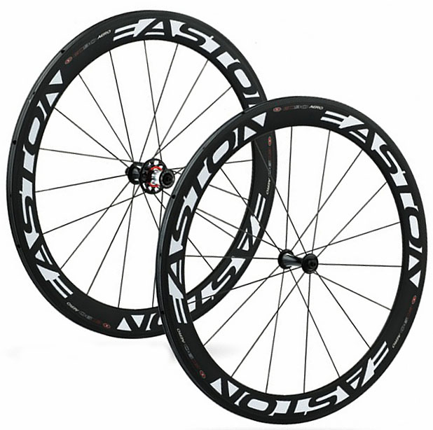 2011 Easton EC90 Aero 56mm Carbon Tubular Wheelset 1335 grams