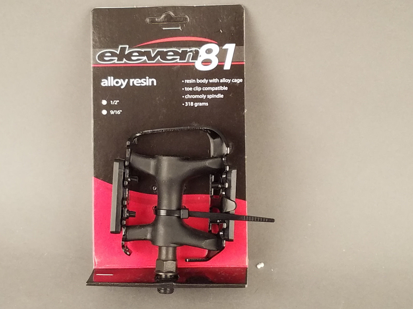 "Eleven81 Alloy Resin Platform Pedals 1/2"" Black"