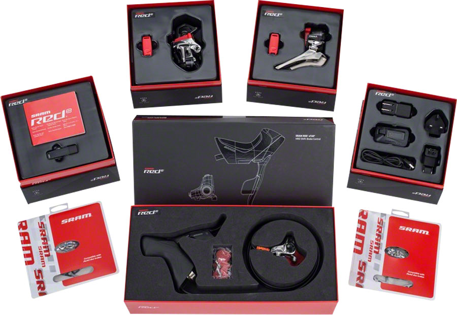 SRAM Red eTap Group Hydraulic Post Mount Disc Brakes Short Cage