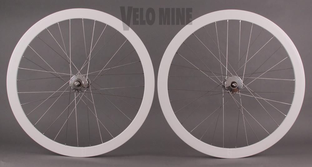 H Plus Son Formation Face WHITE Rim Phil Wood Track hubs Wheels