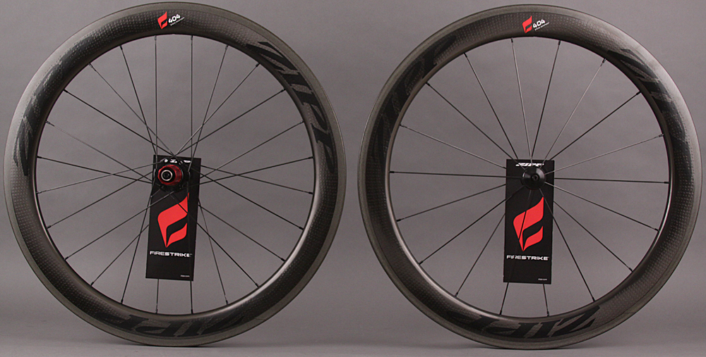 2015 Zipp 404 Black Firestrike Carbon Clincher Wheelset Campy