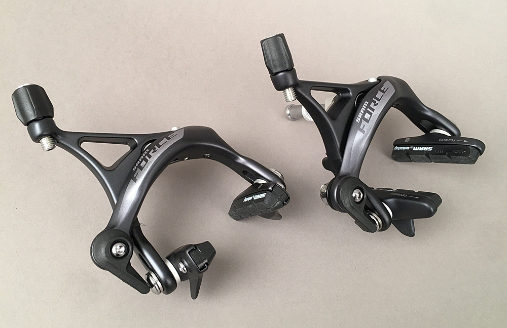 SRAM Force AXS Front and Rear Road Brake Calipers w 16/10mm Nut