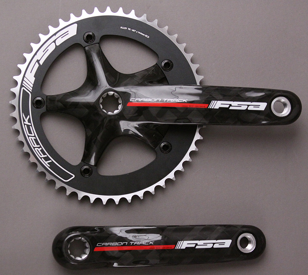 FSA Carbon Track 172.5mm ISIS 144mm BCD with 49t Ring
