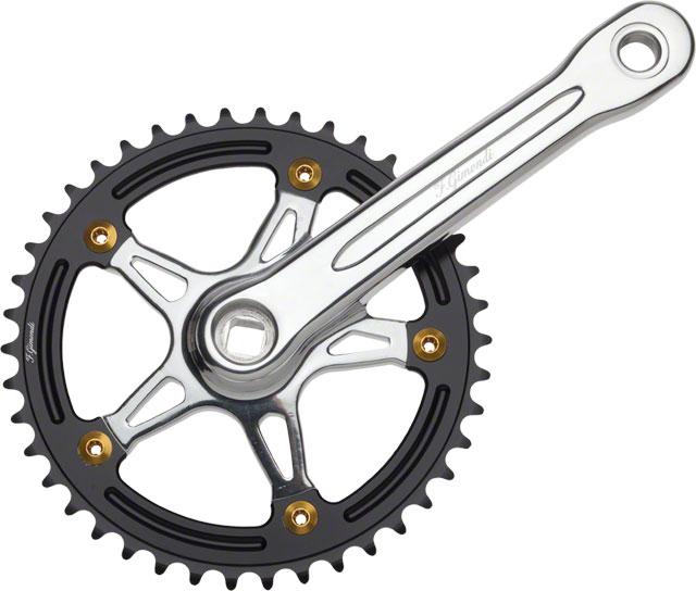 FSA Track Bike Fixed Gear Crankset Gimondi 165mm 42t Silver Blk
