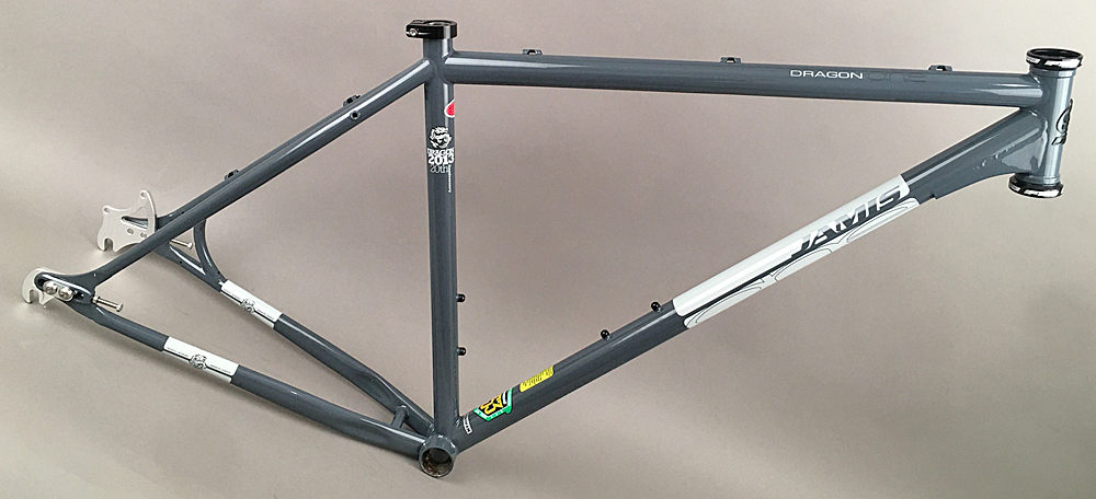 "Jamis Dragon 29er MTB Single Speed Bike Steel Frame 15"" Gray"