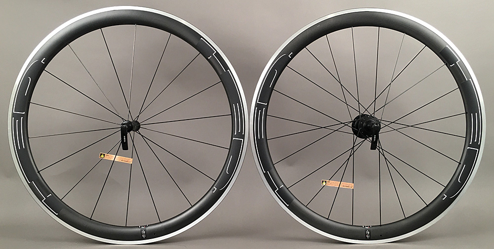 HED Jet 4 Plus Carbon Fiber Road Bike Wheels 18h Front 24h Rear
