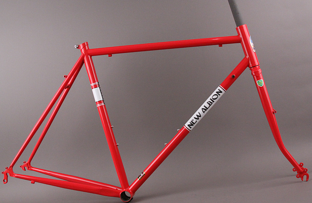 New Albion Homebrew Steel Road Bicycle Town Red Frameset 56cm
