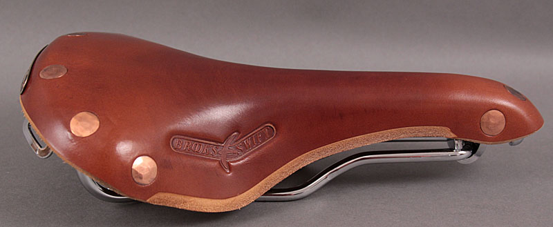 Brooks Swift Honey Copper Rivets Chrome Frame and Rails