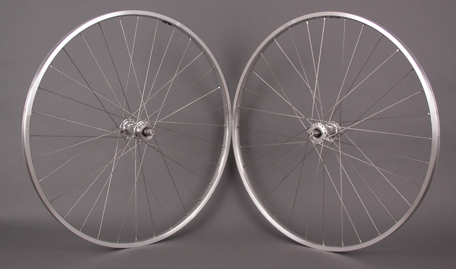 H Plus Son TB14 Wheelset Polished Silver Phil Wood Low Flange