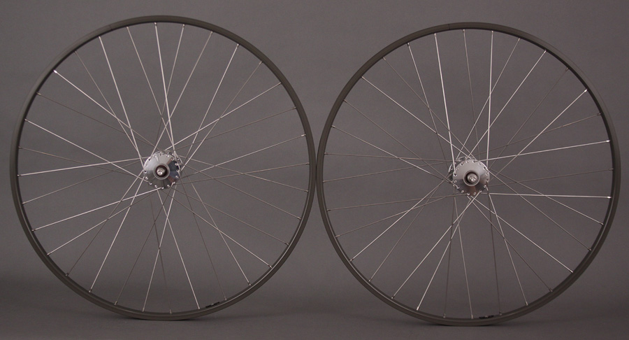 H Plus Son TB14 Rims Track Wheels Phil Wood High Flange Anodize