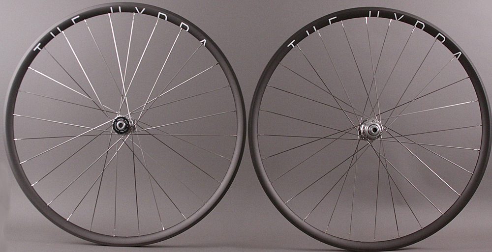 H + Son Hydra Road CL Disc Wheels White Ind Polished Hubs Thru