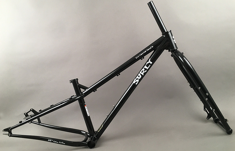 Surly Ice Cream Truck Fat Bike Frameset Fork MDS Black X-Small