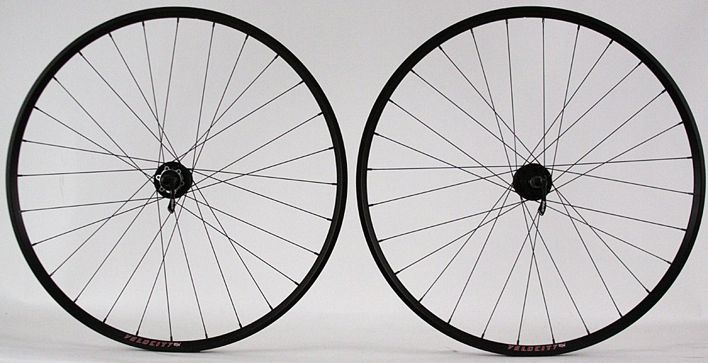 Velocity A23 Road Gravel Disc Brake Wheelset QR or Thru Axle