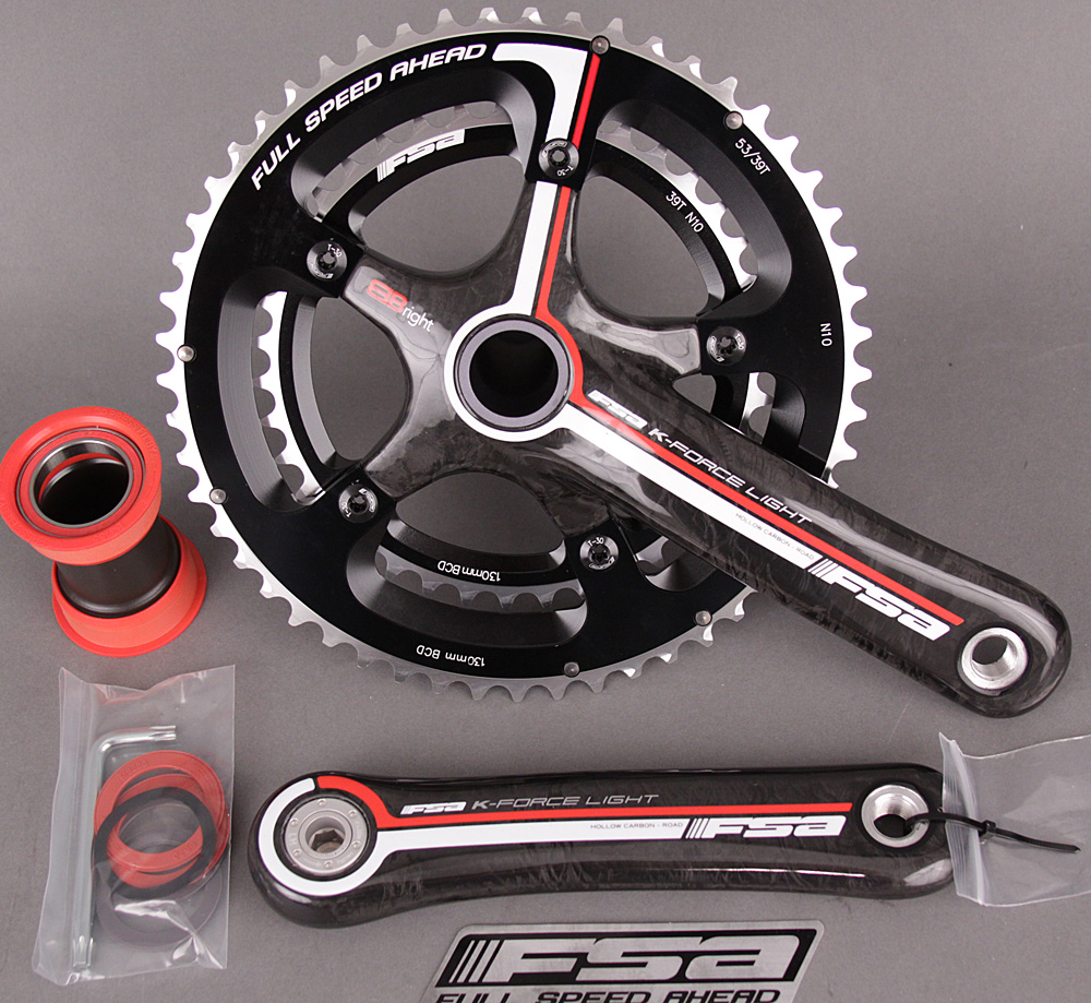 FSA K Force Light BBRight Carbon Crankset 175mm 39/53 / Cervelo
