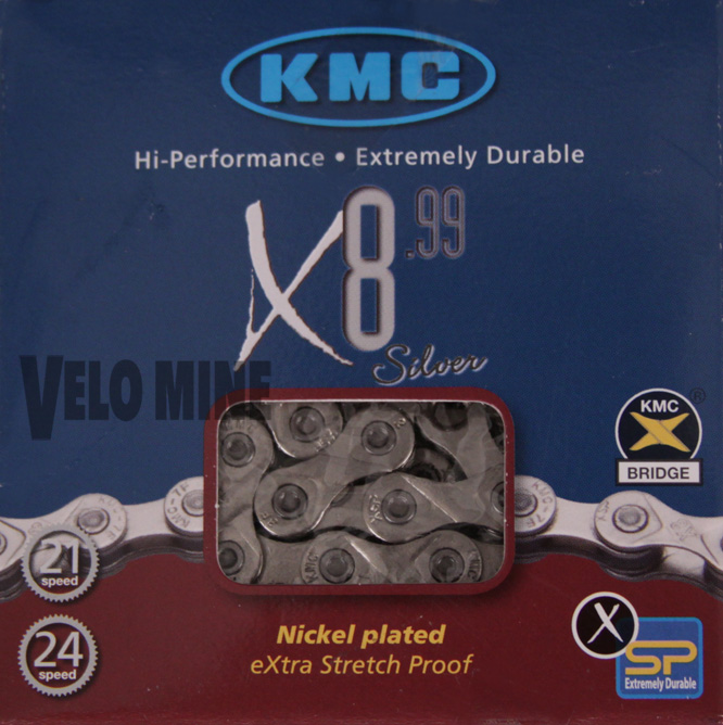 KMC X8.99 6 7 8 speed chain - Fits Campagnolo Synchro System
