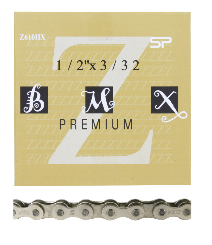 KMC Z610HX-SILVER Single Speed Track CHAIN 3/32""