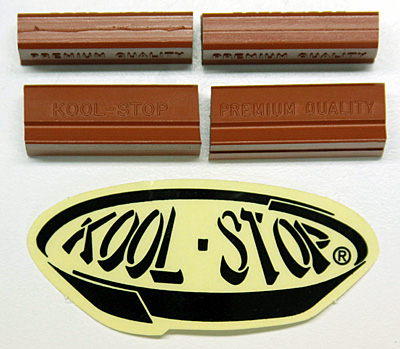Kool Stop Salmon brake pads old Campagnolo Super & Nuovo Record