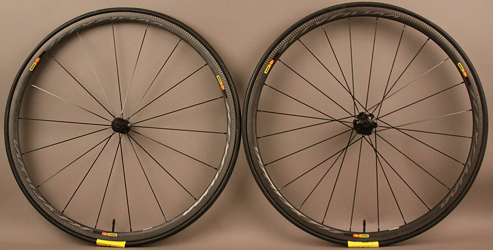 Mavic Ksyrium Pro Carbon SL Tubular Road Bike Wheelset & Tires