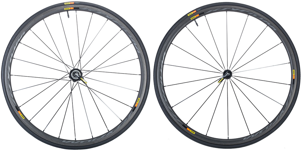 Mavic Ksyrium Pro Carbon SL C Clincher Road Bike Wheelset Tires