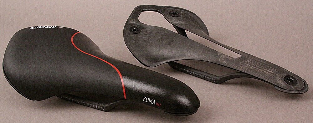 Repente Italian Road Bike Carbon Saddle Kuma 4.0 Black Red