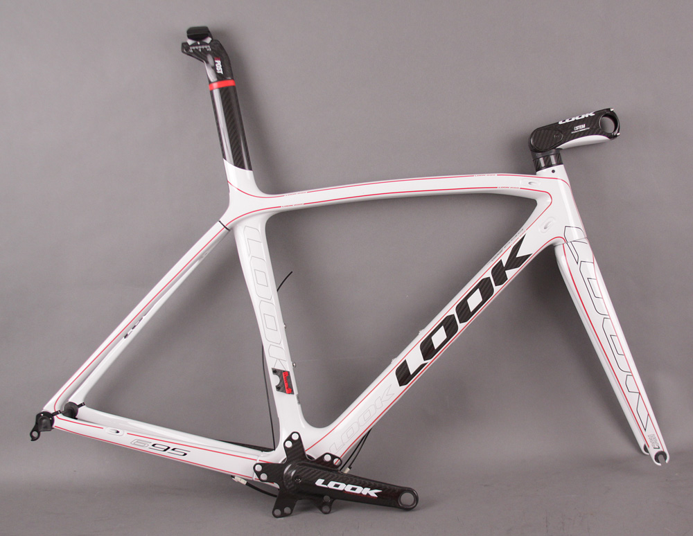 2011 Look 695 I-Pack White Frameset Crank Stem Fork Seatpost