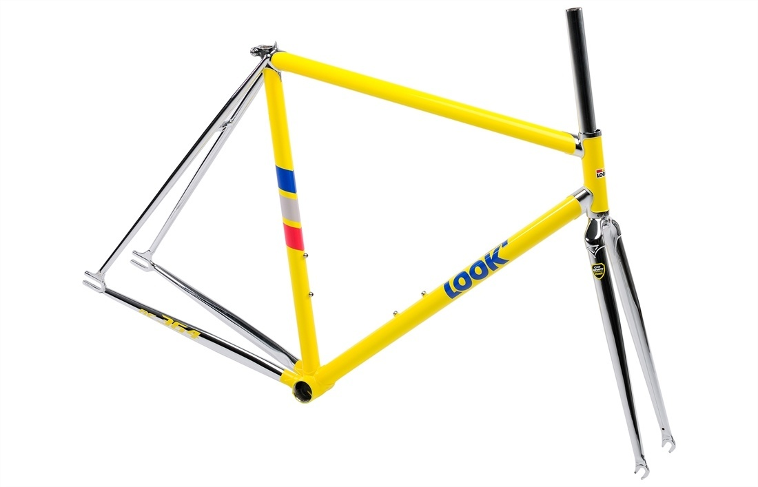 2015 Look AC 364 Steel Track Bike Fixed Gear Frame & Fork XS