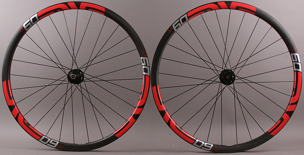 Enve M60/40 29er DT240 6B Hubs Carbon Clincher Wheels Red Decals