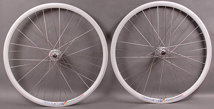 Weinmann DP18 Silver fixed gear track wheelset 32h