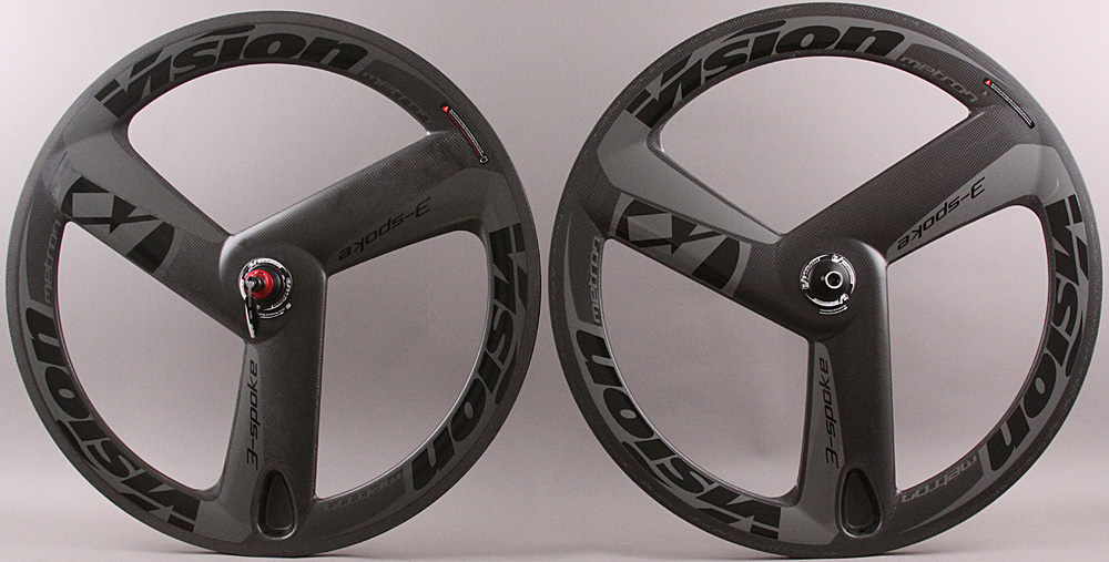 FSA Vision Metron 3 Spoke Carbon Tubular Track Wheels Black