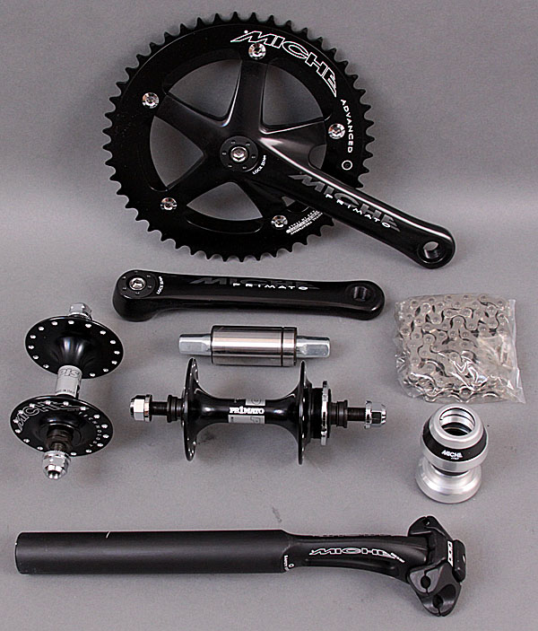 Miche Black Group - Crankset bb Hubs Seatpost Headset Chain