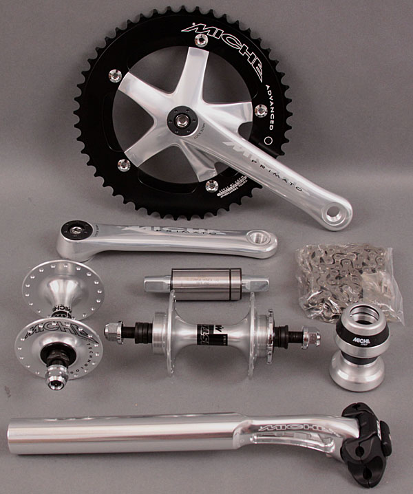 Miche Silver Group - Crankset bb Hubs Seatpost Headset Chain