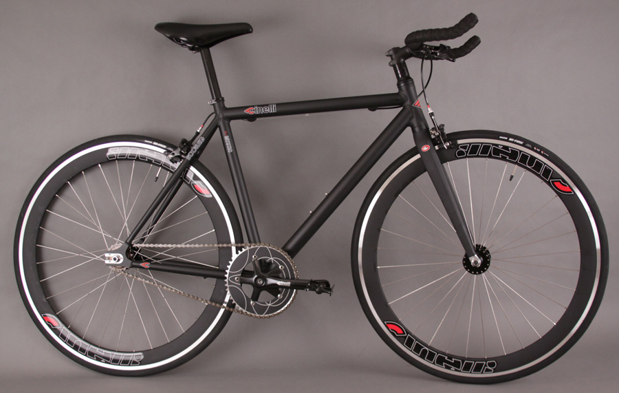 Cinelli Mystic Rats Black Complete SingleSpeed Fixed Gear Bike