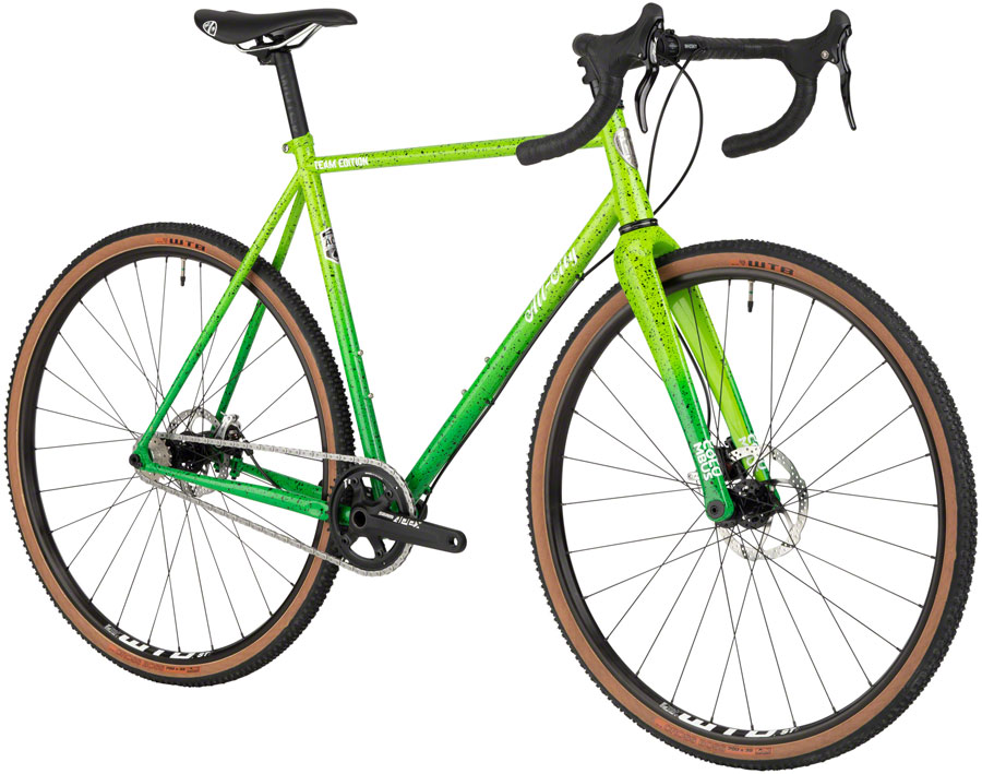 All-City Nature Boy ACE Bike 700c Steel Green Fade Splatter 46cm