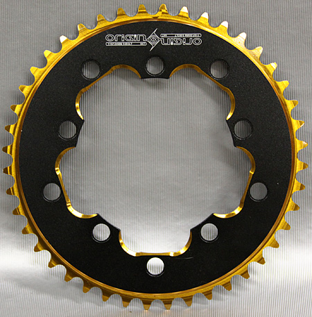 Origin 8 fixed gear bmx BLACK GOLD 44T 3/32 CHAINRING 110 130bcd