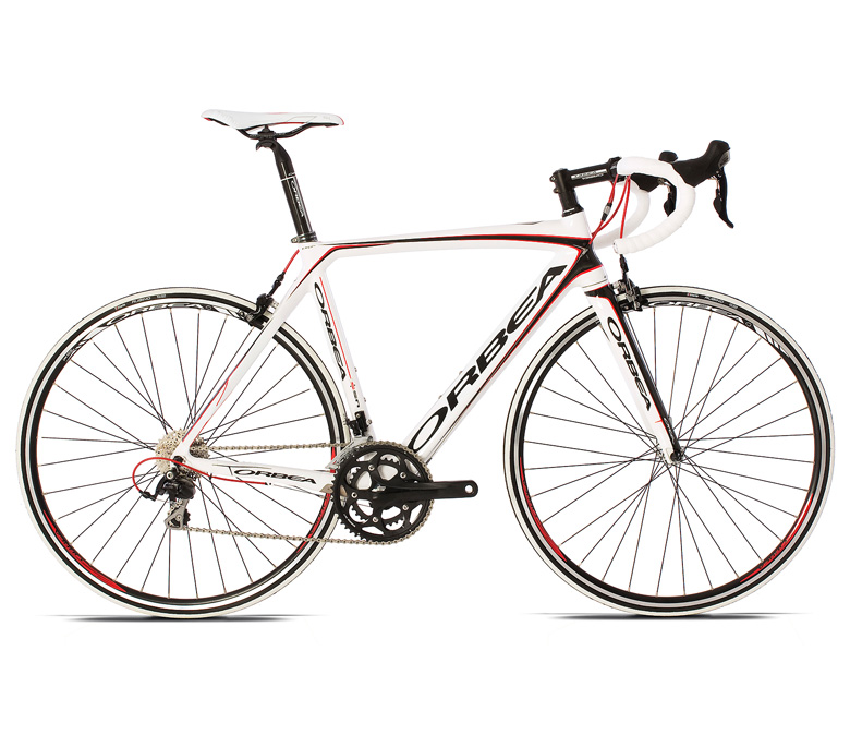 2013 Orbea Orca B105 Shimano 105 - 57cm White Carbon Red