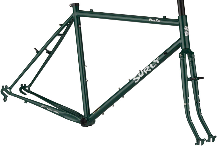 "Surly Pack Rat 26"" Road Touring Frameset 46cm Get In Green"
