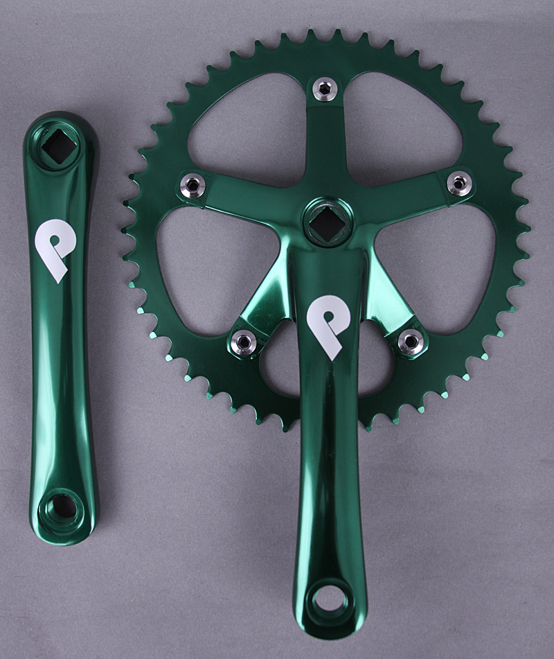 Pake Fixed Gear Single Speed Bike Crankset 170mm x 46t Green