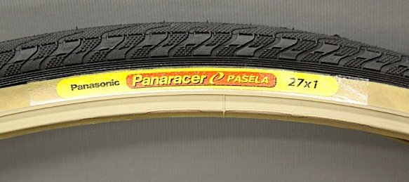 "Pair Panaracer Pasela 27 x 1"" wire bead gum wall tires"