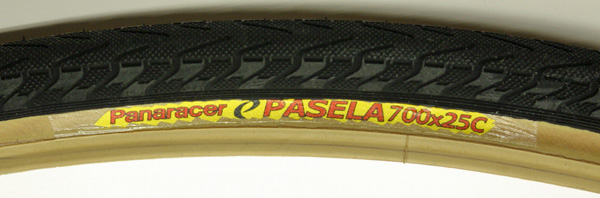 Pair Panaracer Pasela 700 x 25 gum wall tires wire bead