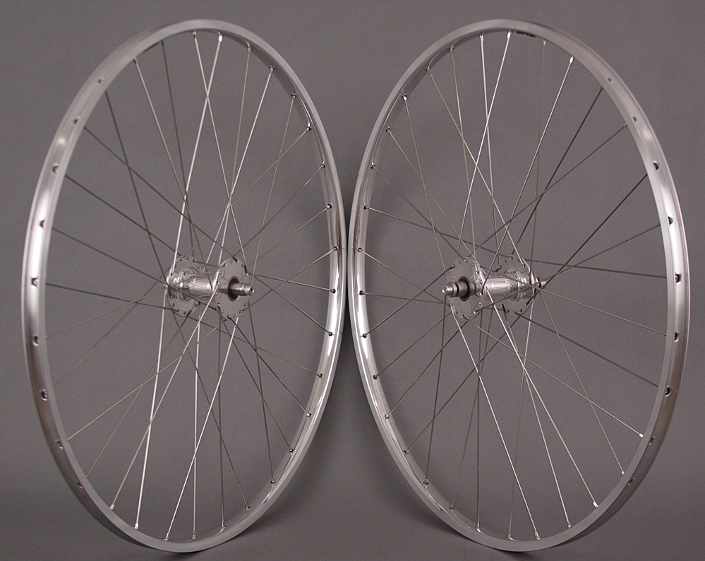 H Plus Son TB14 Track Wheelset Phil Wood High Flange Hubs