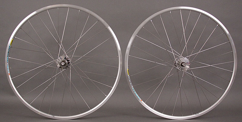 Phil Wood Hubs Silver Mavic Open Pro Track Bike Wheelset 3x