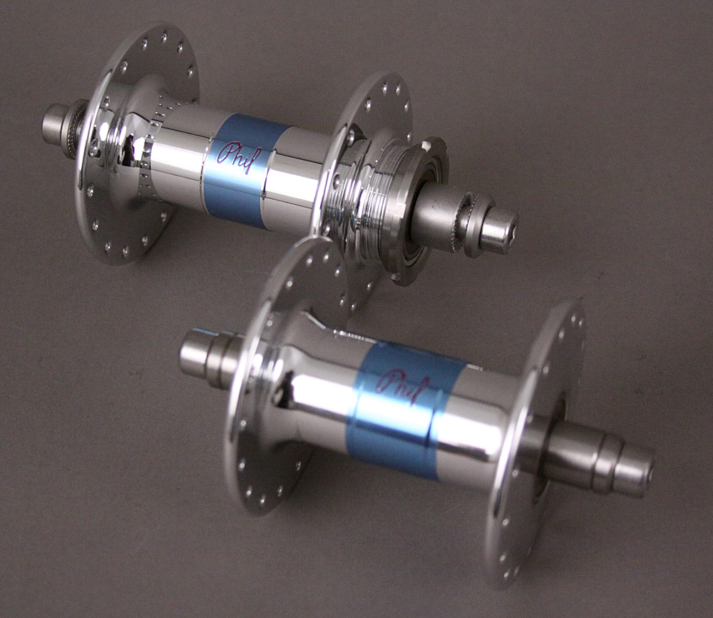 Phil Wood 32H Track Bike Rear Hubset Single Sided Fixed Silver