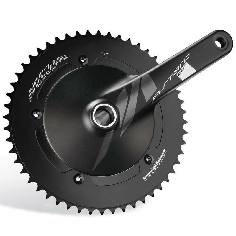 Miche Black Pistard Air Track Bike Crankset 167mm 49t 144 BCD