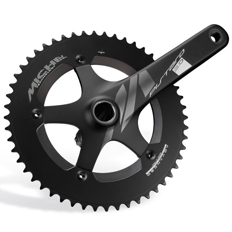 Miche Black Pistard 2.0 Track Bike Crankset 167mm 49t 144 BCD