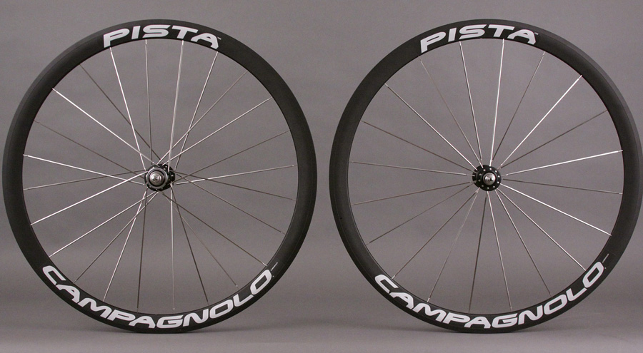 Campagnolo Track Pista Tubular Wheelset Front and Rear