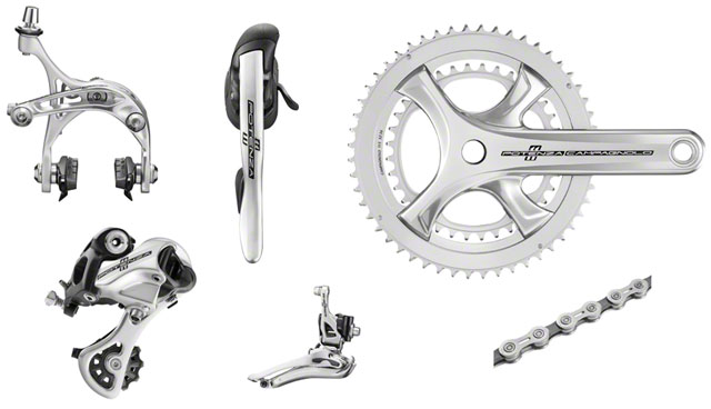 2018 Campagnolo Potenza Silver 11 Speed 6 pc Group 175 Crankset